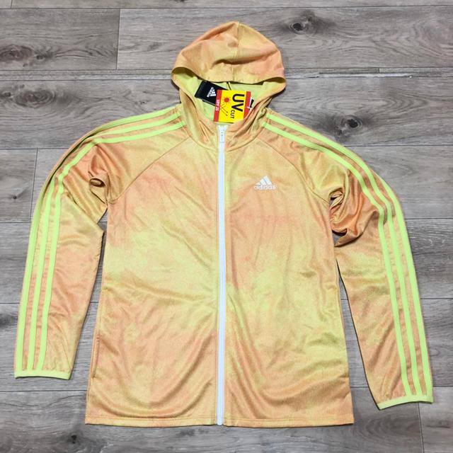 adidas(アディダス)の140 アディダス 女の子パーカー ジップアップ 長袖パーカー 長袖 Tシャツ キッズ/ベビー/マタニティのキッズ服 女の子用(90cm~)(ジャケット/上着)の商品写真