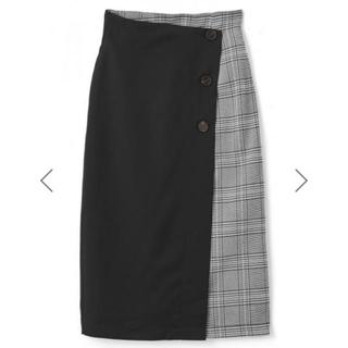 グレイル(GRL)のGRL グレンチェックラップタイトスカート(その他)
