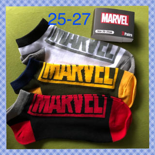 マーベル(MARVEL)の【マーベル】 メンズ靴下3足セットMV-1 25-27(ソックス)