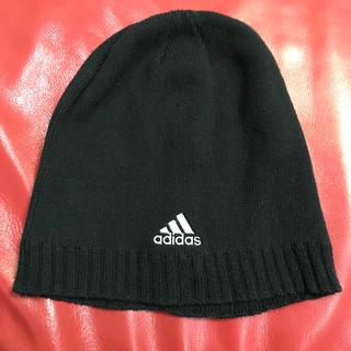 アディダス(adidas)の【値下げ】アディダス ニット帽 ブラック (ニット帽/ビーニー)