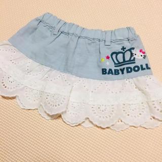 ベビードール(BABYDOLL)の☆新品☆ベビードール スカート 80 キティちゃんコラボ(スカート)