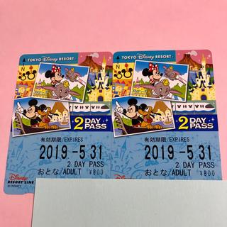 ディズニー(Disney)の未使用ディズニー リゾートライン 2day pass 2019 5 31(鉄道乗車券)