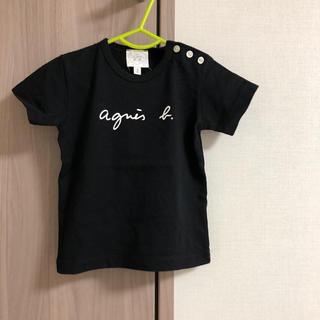 アニエスベー(agnes b.)のアニエスベー    ベビー  子供服  ロゴTシャツ  黒  1an 80サイズ(Tシャツ)