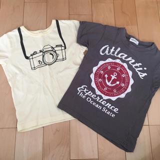シスキー(ShISKY)のused♪Tシャツ2枚セット♪120cm  4/35*31(Tシャツ/カットソー)