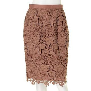 ジャスグリッティー(JUSGLITTY)のニューフラワーレースタイトスカート(JUSGLITTY)花柄レース(ひざ丈スカート)