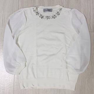 リランドチュール(Rirandture)のrirandture 衿ビジューニット(ニット/セーター)