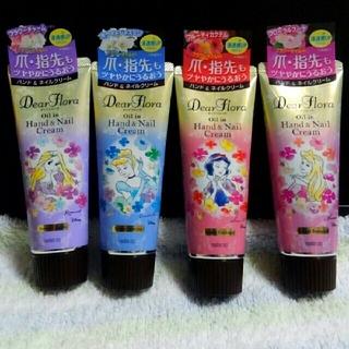 ディズニー(Disney)のディアフローラ オイルイン ハンド&ネイルクリーム4種セット(ハンドクリーム)