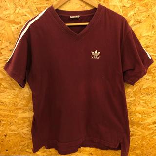 アディダス(adidas)のアディダス 3本ライン 90s カナダ製 三つ葉マーク 葉っぱマーク(Tシャツ/カットソー(半袖/袖なし))