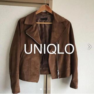 ユニクロ(UNIQLO)のスエード ライダース(ライダースジャケット)