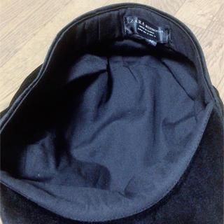 ザラ(ZARA)のZARA ベロア生地 帽子(ハンチング/ベレー帽)