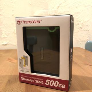 トランセンド(Transcend)の新品未開封 Transcend ポータブルHDD 500GB (PC周辺機器)