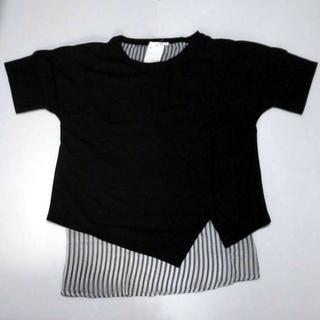 ベルーナ(Belluna)の新品スリットデザイン かのこ素材プルオーバー(Tシャツ(半袖/袖なし))