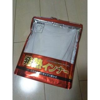 シマムラ(しまむら)の新品未開封/しまむら FIBERHEAT/メンズ Vネック 半袖Tシャツ/白/L(その他)