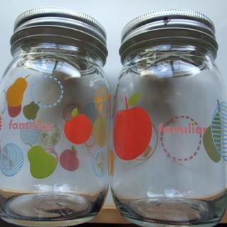 ファミリア(familiar)のファミリア ガラスキャニスター ガラスジャーボトル メイソンジャー 非売品(ノベルティグッズ)