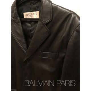 バルマン(BALMAIN)のお値下げ◆バルマン BALMAIN PARIS レザー テーラード ジャケット(レザージャケット)