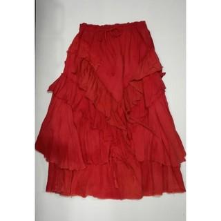 エルロデオ(EL RODEO)のEL RODEO♡エルロデオのフリルロングスカート♡エスニック マライカ 民族(ロングスカート)