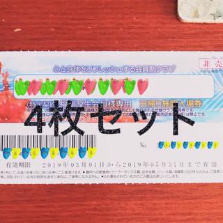 ハワイアンズ 無料 チケット 4枚セット(プール)