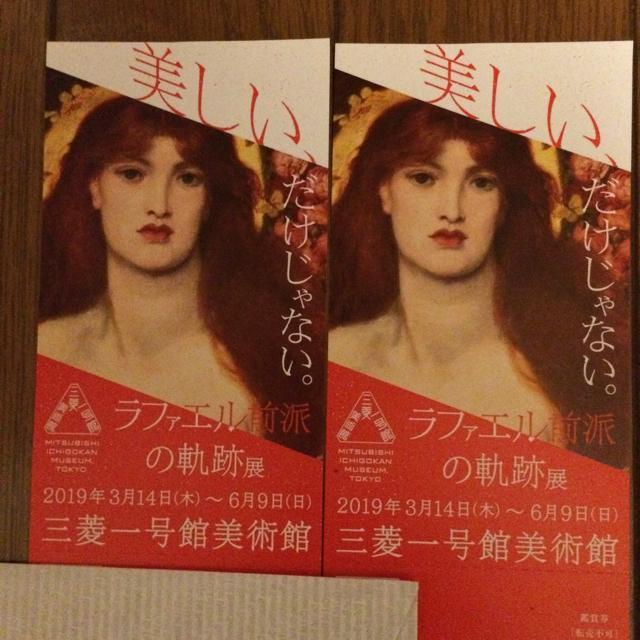 ラスキン生誕200年記念 ラファエル前派の軌跡展の鑑賞券2枚ペア チケットの施設利用券(美術館/博物館)の商品写真