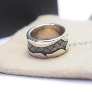 ボッテガヴェネタ(Bottega Veneta)の新品/送料無料/ボッテガヴェネタ/リング・指輪/13号サイズ/メンズ/シルバー(リング(指輪))