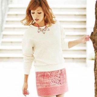 マーキュリーデュオ(MERCURYDUO)の【新品未使用】MERCURYDUO ツイード スカート ピンク(ミニスカート)