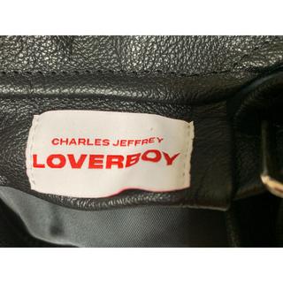 Charles Jeffrey LOVERBOY 18aw レザーベレー帽(ハンチング/ベレー帽)
