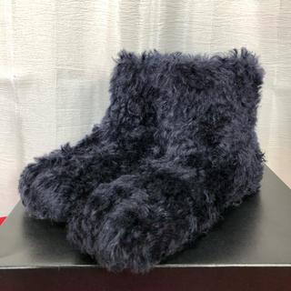 ミュウミュウ(miumiu)の現行 miu miu ミュウミュウ ファー アンクルブーツ 靴 正規品(ブーツ)