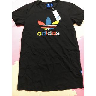 アディダス(adidas)のadidas originals Tシャツ ワンピース(ひざ丈ワンピース)