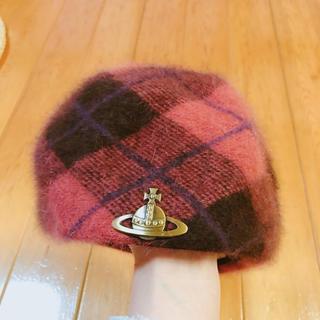 ヴィヴィアンウエストウッド(Vivienne Westwood)のヴィヴィアン チェック ベレー帽(ハンチング/ベレー帽)