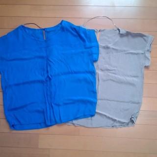 ジーユー(GU)の二枚セット(シャツ/ブラウス(半袖/袖なし))