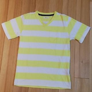 シマムラ(しまむら)のメンズ Tシャツ ボーダー Vネック(Tシャツ/カットソー(半袖/袖なし))