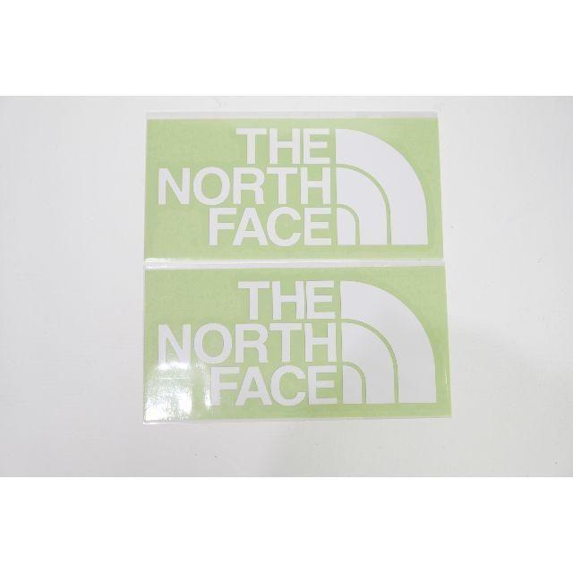 THE NORTH FACE(ザノースフェイス)のノースフェイス TNFカッティングステッングステッカー ホワイト2枚 自動車/バイクのバイク(ステッカー)の商品写真