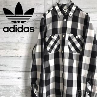 アディダス(adidas)の【レア】アディダスオリジナルス adidas☆ロゴタグ入りチェック柄 BDシャツ(シャツ)