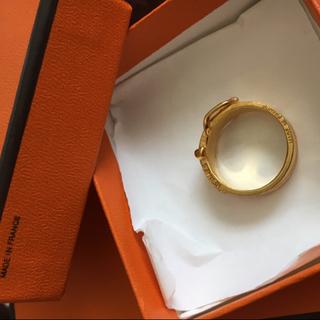 エルメス(Hermes)のエルメススカーフリング  指輪も可能?  タイムサービス価格😭今夜20時まで(リング(指輪))