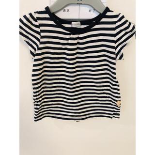 シマムラ(しまむら)のボーダー Tシャツ トップス kisd 100cm 美品(Tシャツ/カットソー)