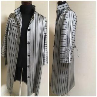 ●○レトロ ●○ コート ジャケット シルバー グレー (トレンチコート)