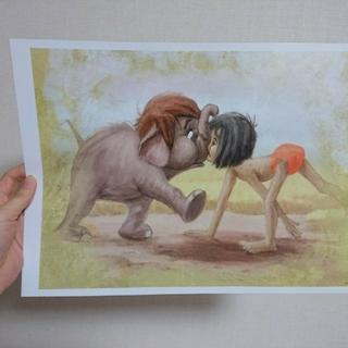 ディズニー(Disney)のジャングル・ブック ポスター(額絵)+1枚おまけ(ポスター)