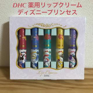 ディーエイチシー(DHC)のDHC 薬用リップクリーム ディズニープリンセス 5本セット 新品未開封品(リップケア/リップクリーム)
