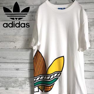 アディダス(adidas)の【激レア】アディダス adidas☆トレフォイルビッグロゴマルチカラーTシャツ(Tシャツ/カットソー(半袖/袖なし))