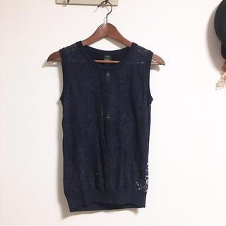 ダブルスタンダードクロージング(DOUBLE STANDARD CLOTHING)のお値下げ新品ダブスタ♡レースノースリーブ(カットソー(半袖/袖なし))