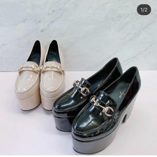 エブリン(evelyn)のevelynビット付きローファーブラックL新品未使用(ローファー/革靴)
