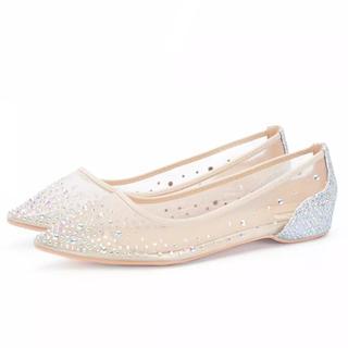 ザラ(ZARA)のCrystal flat shoes(ハイヒール/パンプス)