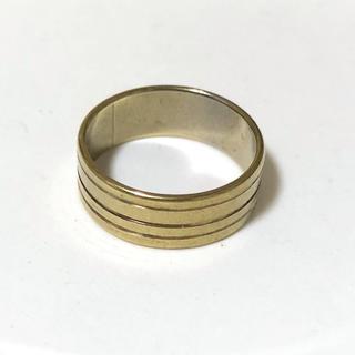 同時購入で300円 ステンレス指輪ストライプ(リング(指輪))