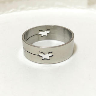 同時購入で300円 ステンレス指輪 チョウ(リング(指輪))