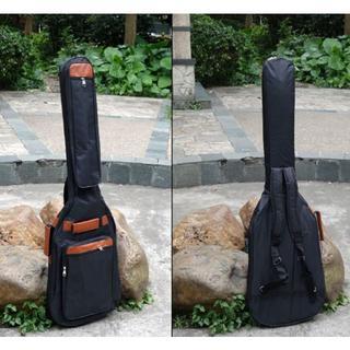 軽量エレキベースギター用ソフトケースリュックタイプギグバッグクッション譜面台入付(ケース)