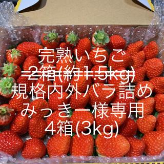 みっきー様専用●いちご●4箱(約3kg)クール便(フルーツ)