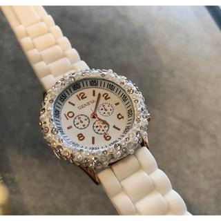 スワロフスキー ラバーウォッチ 時計 ビジュー ボンボンウォッチ アビステ(腕時計)