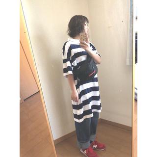 ジーユー(GU)のGU ボーダーワンピース (ポロシャツ)
