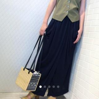 フレイアイディー(FRAY I.D)のstyling/  kei shirahata Tuck drape skirt(ロングスカート)