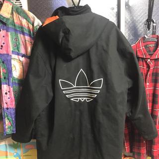 アディダス(adidas)の最終 80s 90s Adidas ロングジャケット ビックロゴ トレフォイル(その他)