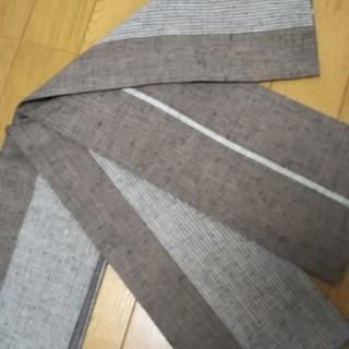 正絹 紬 リバーシブル 半幅帯 (帯)